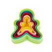 Imagem de Cortador em Plástico Boneco Gingerbrad 5pçs  FT079 - SILVER